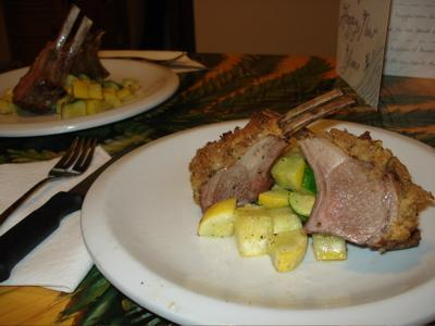 Roasted Rack Of Lamb Persillade