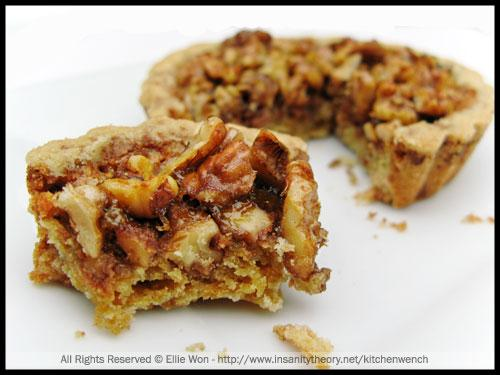 Pecan, Walnut & Golden Syrup Tartlettes