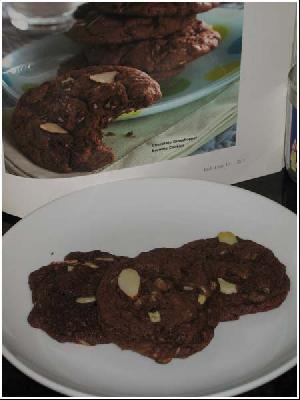 Chocolate Grasshopper Brownie Cookies