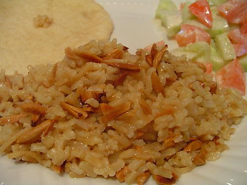 Pilaf with toasted almonds