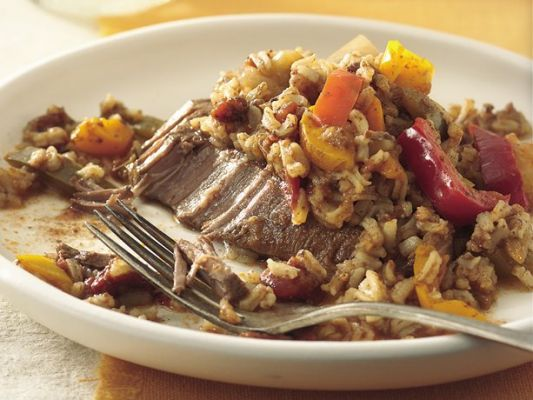 Betty Crocker Slow Cooker Tex-Mex Steak and Rice