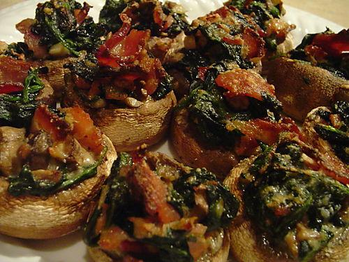 Delicious stuffed mushrooms (crab free)