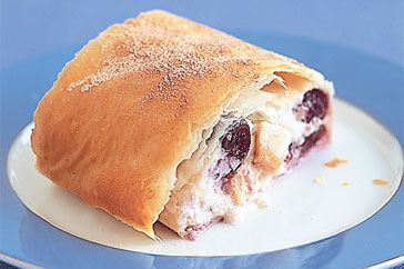 Apple & cherry ricotta strudel