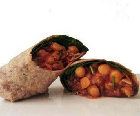 Vegetarian Chickpea-Cranberry Wraps