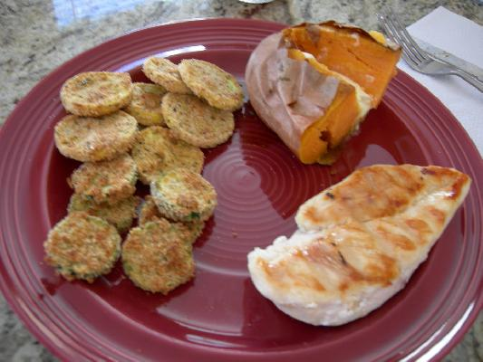 Baked Squash and Zucchini Coins