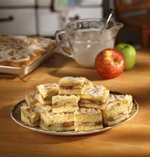 Frosted Fresh Apple Squares