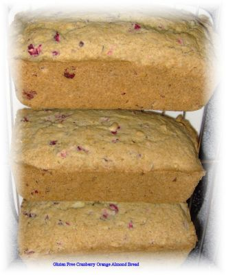 Cranberry Orange Almond Bread II (Gluten Free)