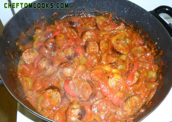 Saucy Sausage & Peppers