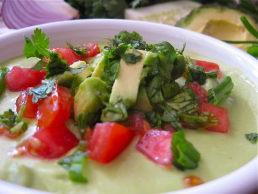 Raw Vegan Avocado Gazpacho