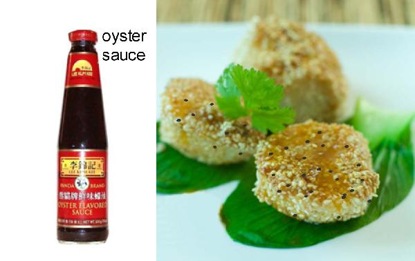 Scallops with Sesame Seeds