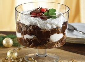 Caramel Cream Brownie Trifle