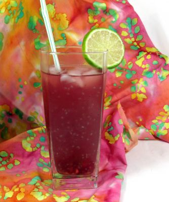 Pomegranate Lime Chia Zinger Drink