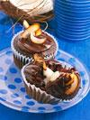 Coconut Cream-Filled Chocolate-Coffee Cupcakes