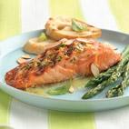 SALMON FILLETS WITH ORANGE BASIL BUTTER