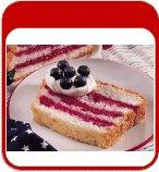 Angel Food Flag Cake