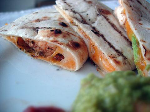 On-the-grill Chicken Quesadillas