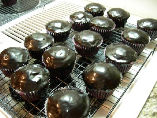 Cream-Cheese Stuffed Chocolate Cupcakes