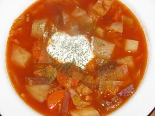 Ukranian Borscht (meat And Vegetable Soup)