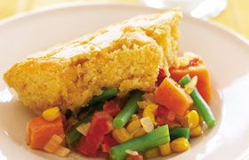 Vegetable Casserole with Corn-Bread Topping