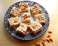 Candy Corn Rice Crispy Treats