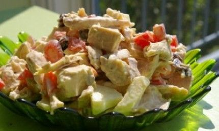 Grilled Cherry-Apple Chicken Salad