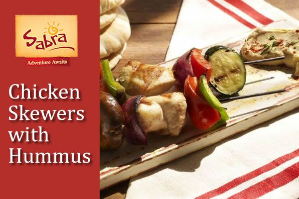 Chicken Skewers with Hummus