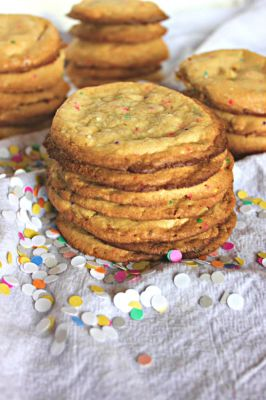 White Chocolate Cake Batter Cookies