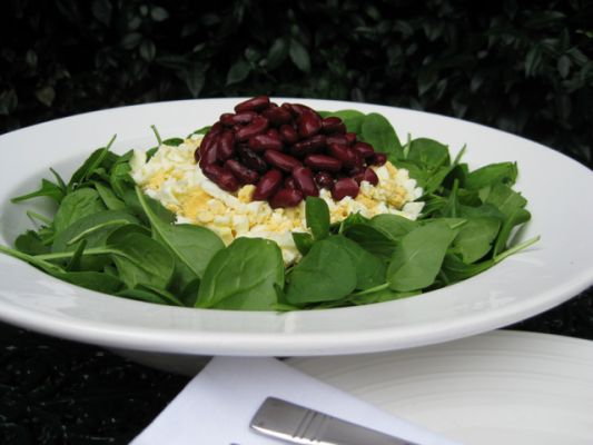 Spinach and Red Kidney Bean Salad