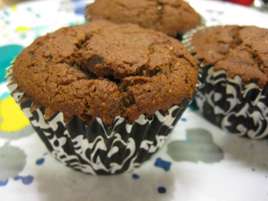 Ginger Lemon Girl's Gluten Free Vegan Dark Chocolate Muffins