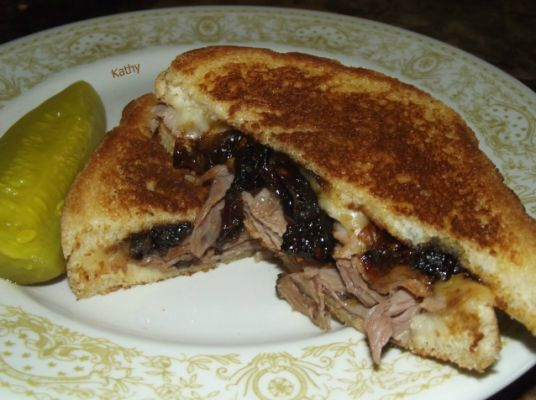 Grilled Roast Beef & Cheese With Cola Caramelized Onions