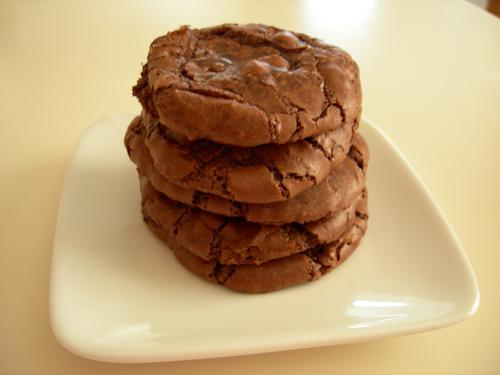 Chewy Chocolate Chocolate Chip Espresso Brownie Cookies