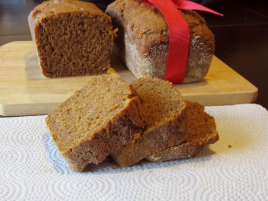 Alisa Fleming and Go Dairy Free's Gluten Free Vegan Pumpkin Bread
