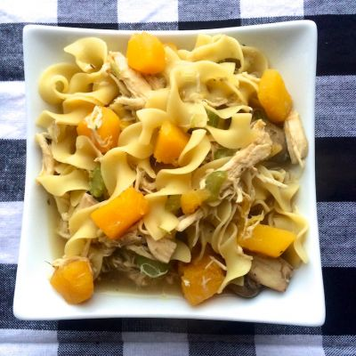 Chicken Noodle Soup with Butternut Squash