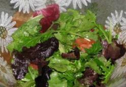 Tossed Salad With Oil And Vinegar Dressing