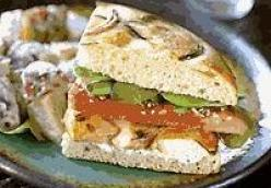 Grilled Chicken, Boursin, And Watermelon Sandwich