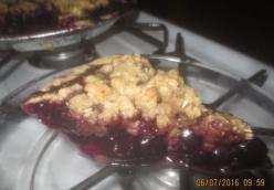 Michelle Losey's Blueberry Pie w/Crunch Topping