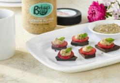 Dark Chocolate Strawberry Poppers With Gourmet Cashew Butter