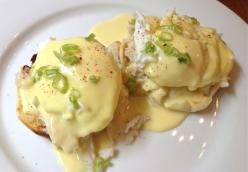 Dungeoness Crab Benedict with Julia's Hollandaise Sauce