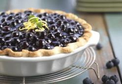 Fresh Blueberry Pie with Lemon Pastry