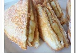 Paula's Fried Peanut Butter and Banana Sandwiches
