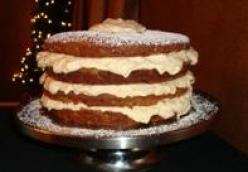 Banana Cake with Eggnog Mousse Filling