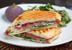 Fig Compote, Prosciutto, and Mozzarella Panini