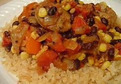 Southwestern Chicken Sausage and Rice