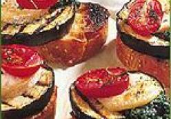 Eggplant, Tomato and Goat Cheese Sandwiches