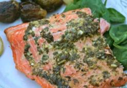 Grilled Steelhead Trout with Mint-Basil Marinade
