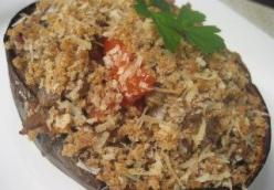 EGGPLANT STUFFED WITH SHRIMP & HAM
