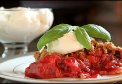 Strawberry Pie with Basil Mascarpone Whipped Cream