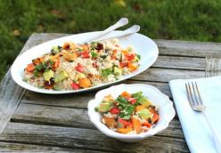 Healthy Coconut Rice and Sweet Veggie Dish