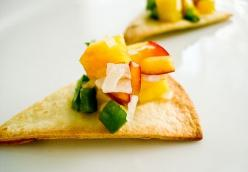Sweet & Spicy Peach Salsa
