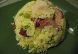 Baked Rice with Chicken and Kielbasa